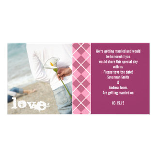 Save the Date-Engagement Photos Photo Card Template