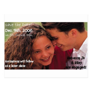 SAVE the DATE Engagement Postcards