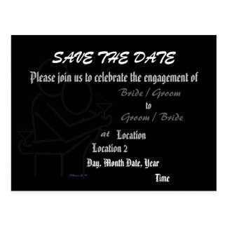 Save the Date Engagement Silhouette Announcement Postcard