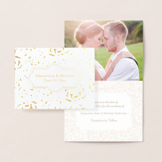 Save the Date Engagement Tudor Garden Renaissance Foil Card