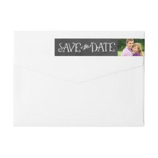 Save the Date Envelope Labels   Chalkboard Charm Wraparound Return Address Label