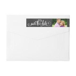Save the Date Envelope Labels | Chalkboard Script