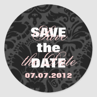 Save the Date Envelope Seal Round Stickers