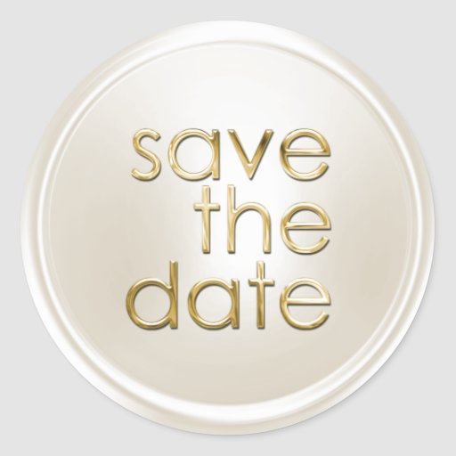 Save the Date Envelope Seal Sticker