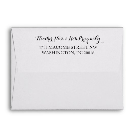 Save The Date Envelope With Return Address