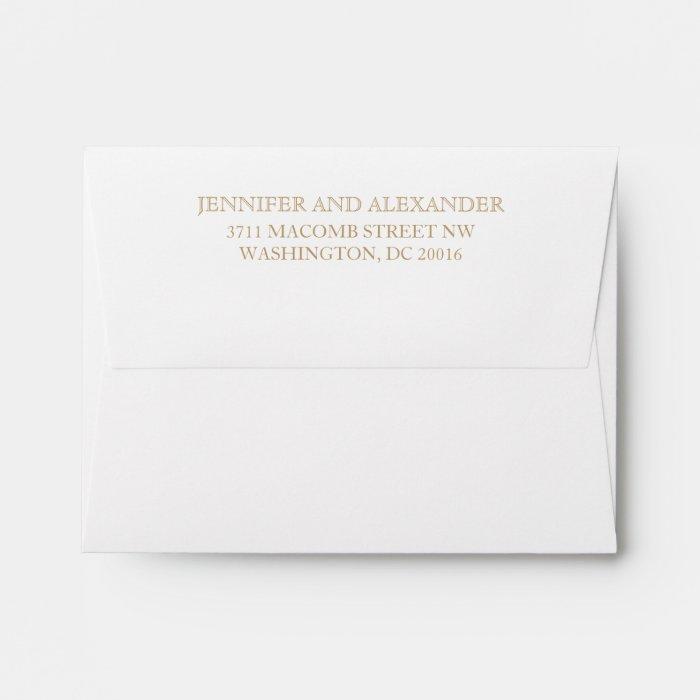 save the date return address on envelopes