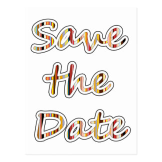 Save the Date exclusive modern design! Postcard