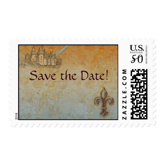 Save the Date Fairy Tale Postage Stamps