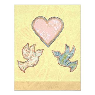 Save the Date Faith Hope Love wedding quilt art Card