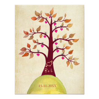 Save the Date Fall Autumn Wedding Tree Invite