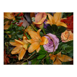 Save-the-Date/Fall Wedding Bouquet Poster