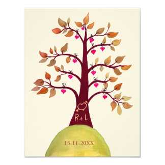 Save the Date Fall Wedding Tree Carving Invite