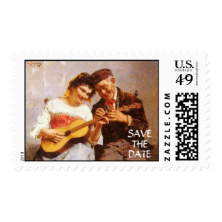 Save the Date Family Love Music Stamp