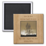 Save the Date Family Reunion 2 Inch Square Magnet