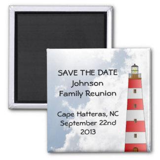 Save the Date Family Reunion Beach Sky Lighthouse Fridge Magnets