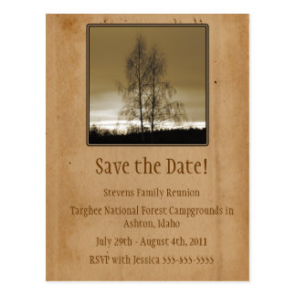 Save the Date Family Reunion Postcard