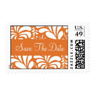 Save The Date Fern Flora Postage