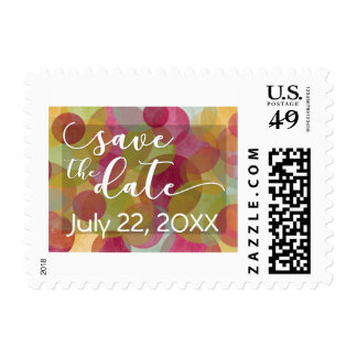 """Save the Date"" Festive, Colorful Bubble-Circles 3 Postage"