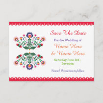 Save The Date Fiesta Mexican Floral Wedding Invite