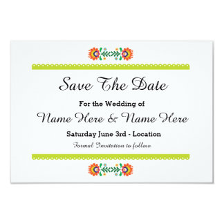 Save The Date Fiesta Mexican Lime Wedding Invites
