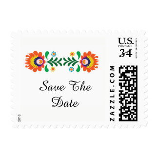 Save The Date Fiesta Wedding Stamps Postage