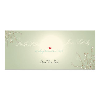 Save the date fine-art paper embossed class love card