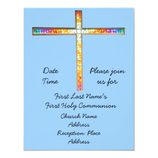 """Save the Date - First Holy Communion (boy)- invite 4.25"""" X 5.5"""" Invitation Card"""