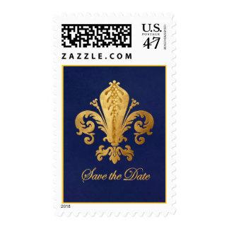 Save the Date Fleur-de-lis Postage