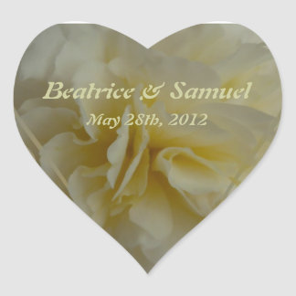 Save the Date Floral Designs Heart Sticker