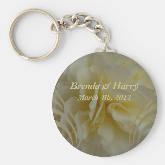 Save the Date Floral Designs Keychain