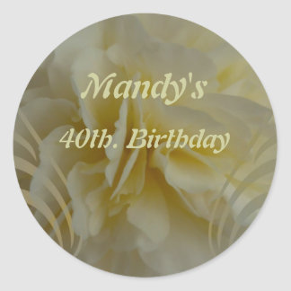 Save the Date Floral Designs Classic Round Sticker