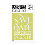 Save the Date Floral Flourish - Soft Spring Green Postage Stamp