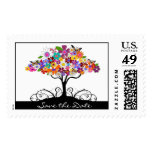 Save the Date - Floral Postage