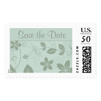 Save the Date Floral Postage Stamp