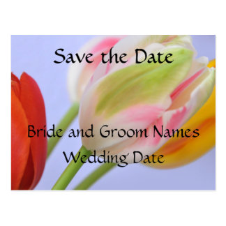Save the Date Floral Postcard