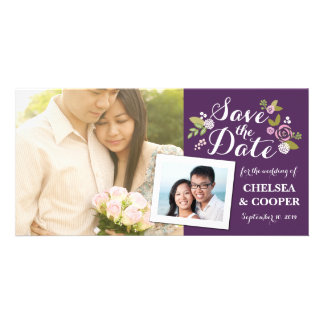 Save the Date | Floral Purple Announcement