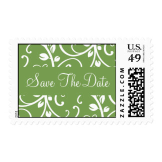 Save The Date Floral Vine Postage