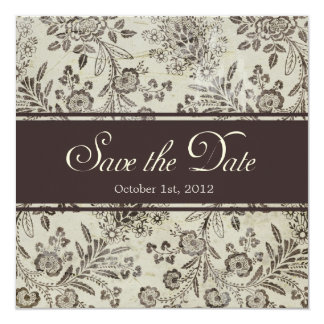 Save the Date Floral with Custom Photo Card