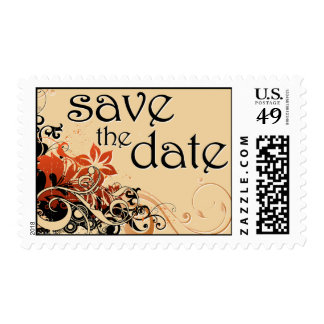 save the date : flower breeze : stamp