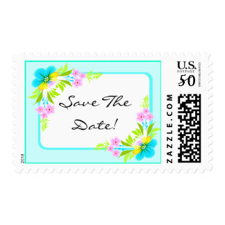 Save The Date Flowers Stamp Stamps Expressions