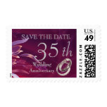 Save the Date for 35th  Wedding Anniversary Stamps Postage