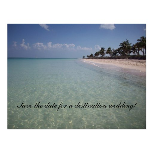 Save the date for a destination weddi... postcard