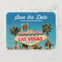 Save the Date for a Fabulous Las Vegas Wedding Announcement Postcard