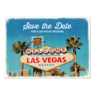 Save the Date for a Fabulous Las Vegas Wedding Card