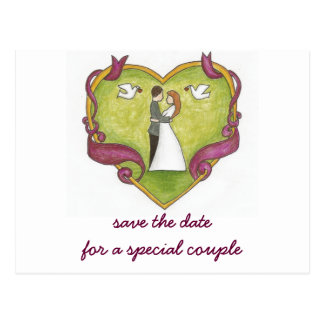 Save the Date for a Special Couple Postcard