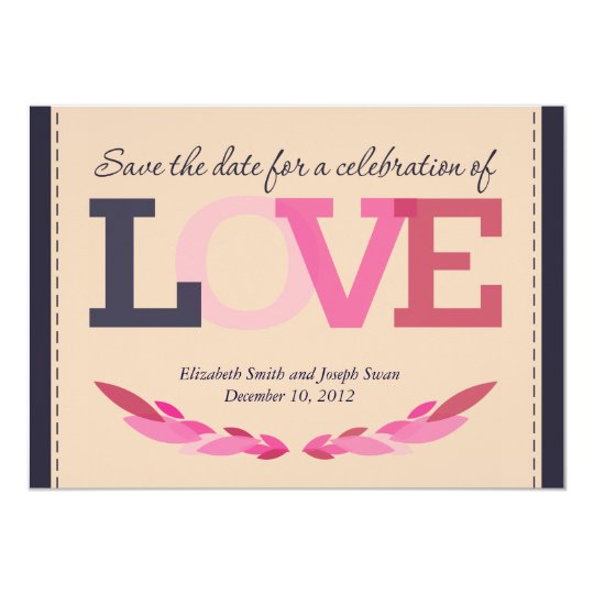 Save the Date for a Wedding Celebration Card