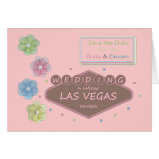 Save the Date for Bride & Groom Las Vegas Wedding  Card