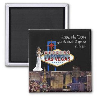 Save the Date, for Bride & Groom Wedding In Las Ve Magnet