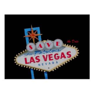 SAVE the Date For Fabulous Las Vegas Postcard