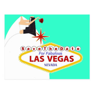 Save the Date For Fabulous Las Vegas Postcard